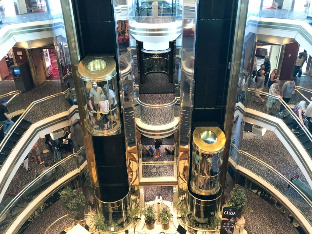 Centrum is central point of the Royal Caribbean Majesty of the Seas