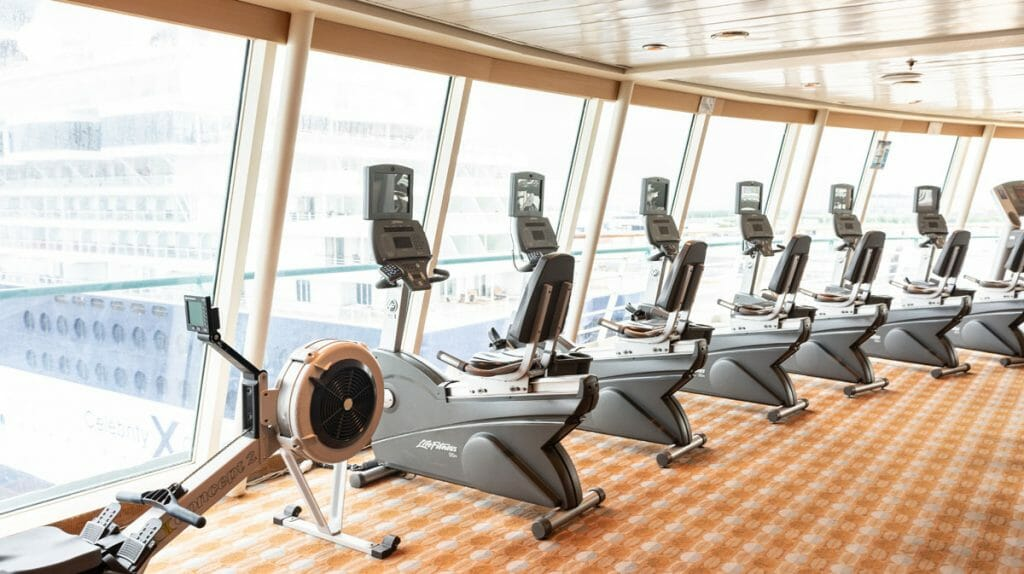 The Royal Caribbean Majesty of the Seas has an impressive gym