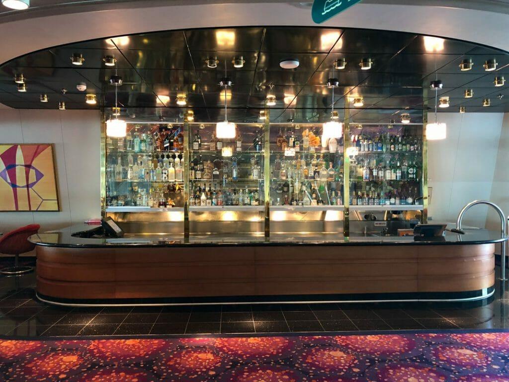 The chorus line bar on the Royal Caribbean Majesty of the Seas
