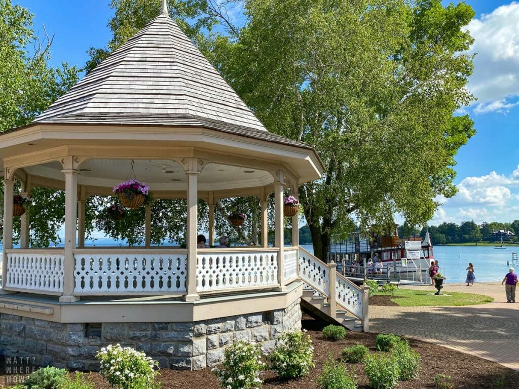 The picturesque gazebo is a focal point on the Skaneateles lakefront