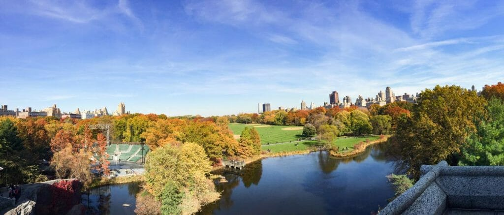 Climb the steps of the Belvedere Castle for views over the Turtle Pond
