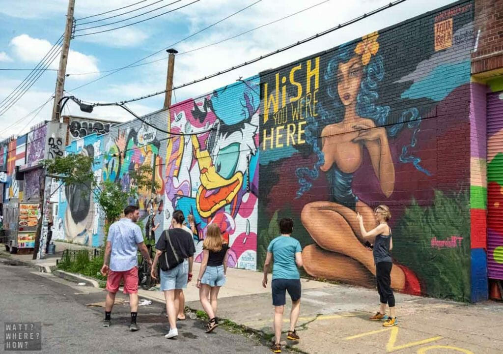 The Bushwick Collective are responsible for the incredible caliber of murals around Jefferson Street, Brooklyn.